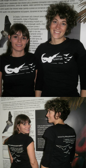 La maglietta di Tutela pipistrelli